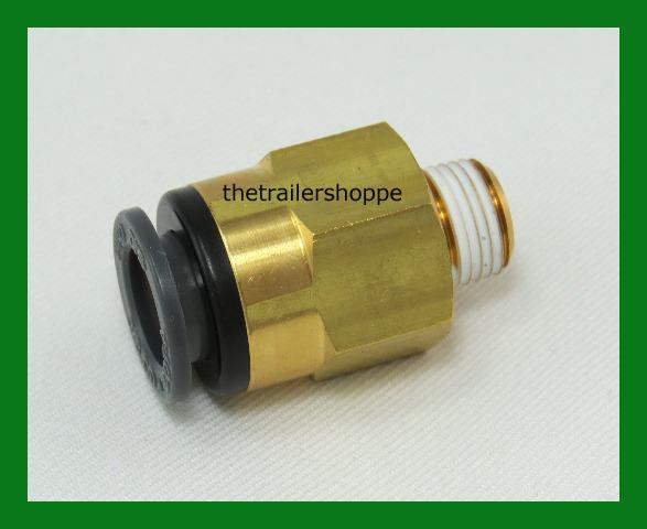 Velvac push lock air brake fitting dot approved quot tube