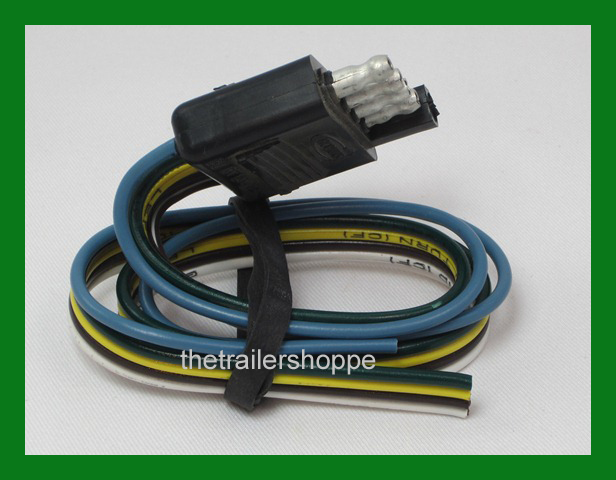 Trailer End Light Wiring Harness Bonded Flat 5 Way Pole Pin Connector