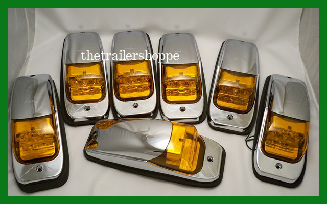 7 kenworth peterbilt roof cab marker light led ebay. Black Bedroom Furniture Sets. Home Design Ideas