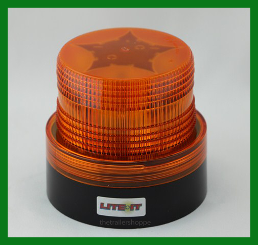 Battery Operated Amber Led Beacon Safety Flashing Light