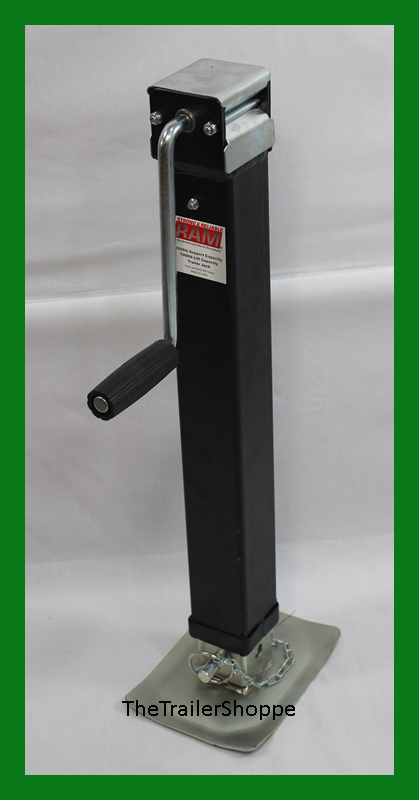 Ram 7000 lbs square drop leg foot trailer tongue jack 7k for Rv square footage