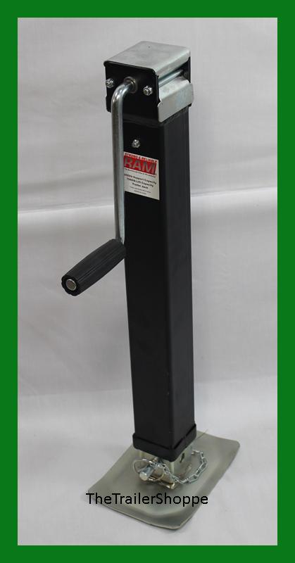 Ram 7000 Lbs Square Drop Leg Foot Trailer Tongue Jack 7k Side Wind Ebay