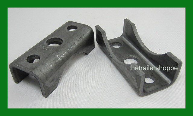 """4 Trailer AXLE Spring SEAT Perch Fit 3/"""" Round Axles 5200 6000 7000 Lb Capacity"""