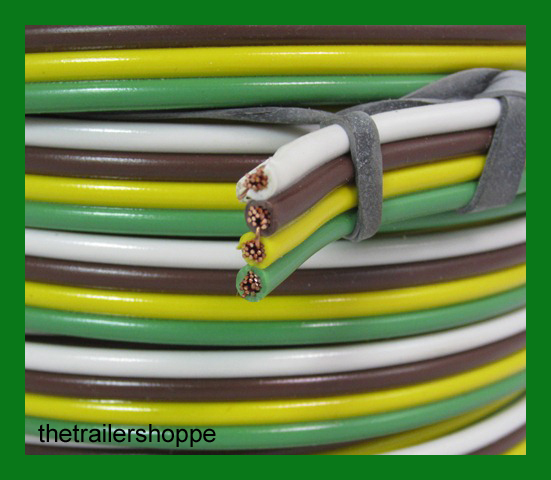 DE02906C trailer light cable wiring harness 16 4 16 gauge 4 wire bonded Plug in Trailer Wiring Kits at readyjetset.co