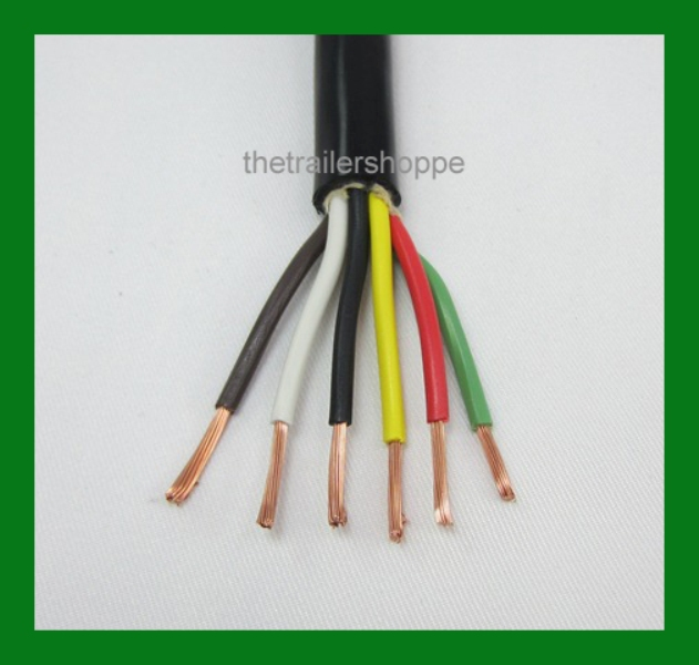 Trailer Light Cable Wiring Harness 14-6 14 Gauge 6 Wire Jacketed ...