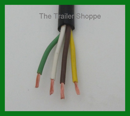DE04926 trailer light cable wiring harness 14 4 14 gauge 4 wire jacketed Trailer Hitch Wiring Diagram at fashall.co
