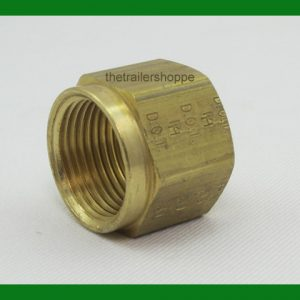 Nylon Air Brake Tub Fitting Brass Nuts