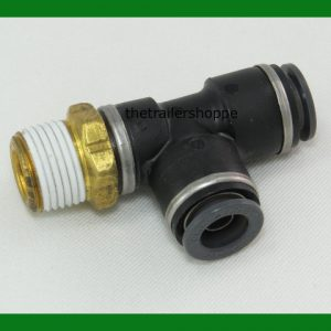 Tee Thread Run Push-Lock Air Brake Fitting