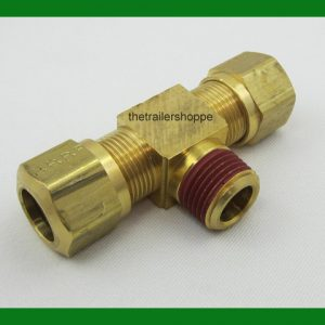Tee Thread Branch Nylon Air Brake Tube Fitting