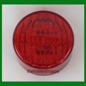 "Clearance Marker Light 2-1/2"" Round 13 Red LED"