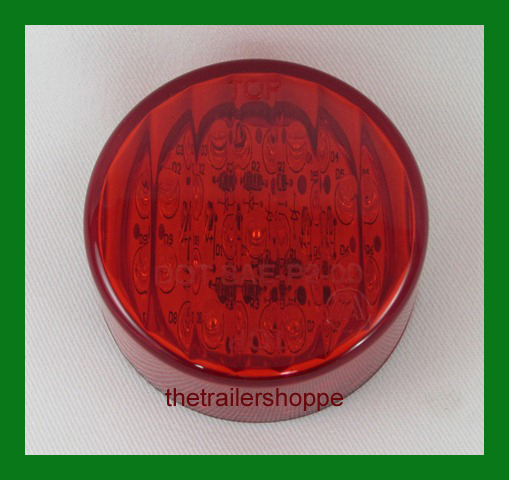 """Clearance Marker Light 2-1/2"""" Round 13 Red LED"""