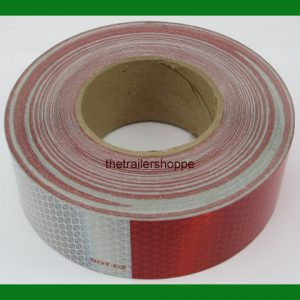 "CONSPICUITY Tape 11"" Red 7"" White 2"" Wide DOT Approved Reflective"