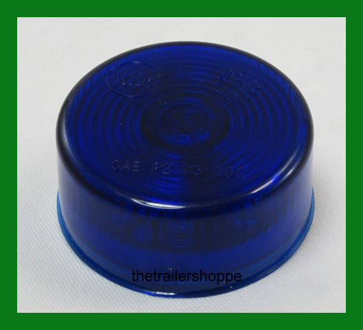 """Blue 9 LEDs Auxiliary Light 2"""" Round"""