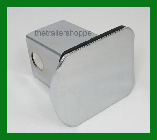 """Chrome Steel Hitch Cover for 2"""" Square Receiver Tube"""