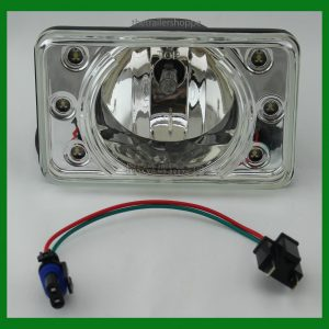"Crystal Projection Headlight 4""X6"" With LED HI Beam Light"