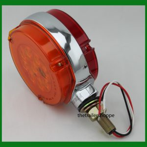 "'GLO' Pedestal Light Red/Amber Lens 4 1/4"" Round"