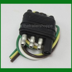 Trailer End Light Wiring Harness Bonded Flat 4 Way Pole Pin Connector