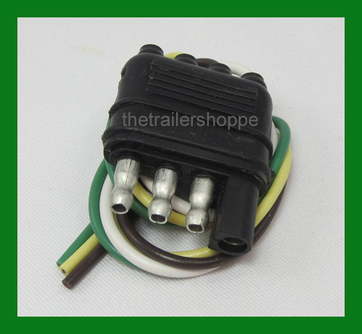 Trailer End Light Wiring Harness Bonded Flat 4 Way Pole Pin ... on 4 pin power supply, 4 pin ignition module, 4 pin spark plugs, 4 pin light bulbs,