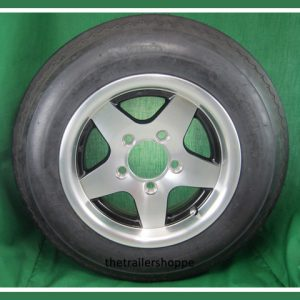 Aluminum Trailer Wheel 4.80-12 Tire LR C 5 bolt