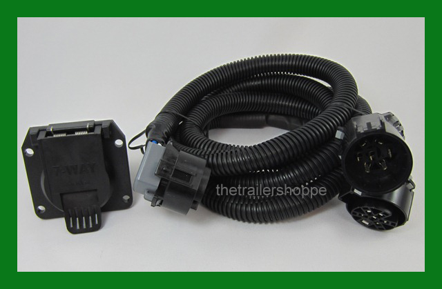 7 way rv plug gooseneck wiring harness ford chevy the trailer shoppe rh thetrailershoppe com ford edge hitch wiring harness ford trailer hitch wiring harness