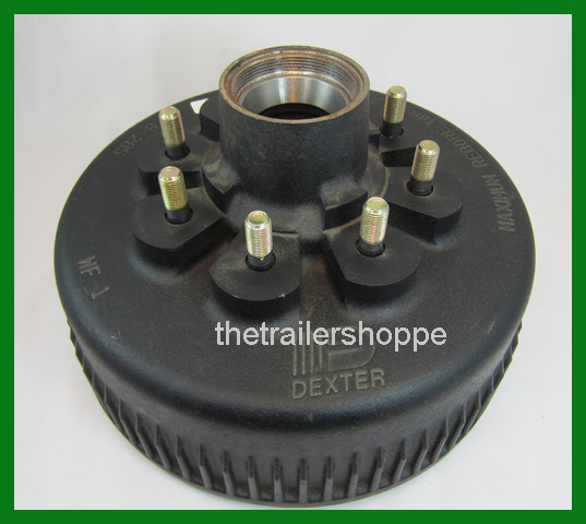 Dexter 8K 12 1/4 X 3 3/8 Trailer Oil Drum 8 on 6.5 bolt