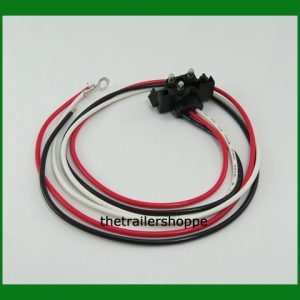 "3-Pin Right Angle Plug -3 Wires 24"" Long"