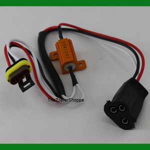 3 wire Pigtail LED Turn Signal Load Resistor Equalizer with Dry Fit Connector