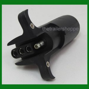 Trailer Light Adapter Plug 6 Round to Flat 4 pin