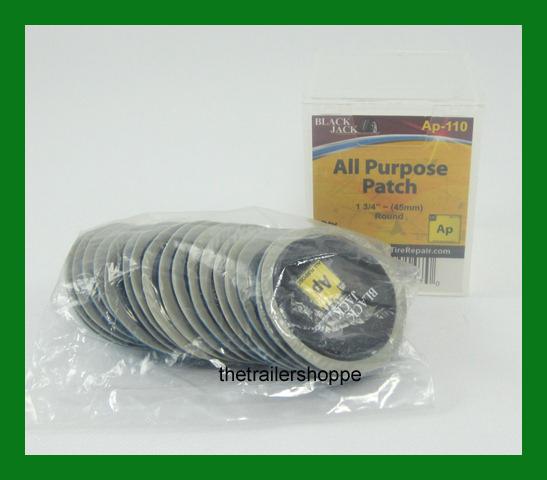 "BlackJack Tire Tube Repair Patch 1 3/4"" 45mm Round All Purpose 20 PC."