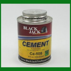 BlackJack Tire Tube Repair Glue Cement 8 OZ Can Flammable