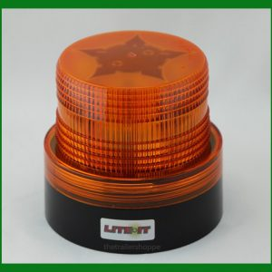 Battery Operated Amber LED Flashing Light Magnetic Mount