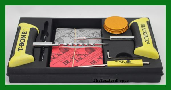 BlackJack Technicians Professional Tire Repair Kit T-Bone