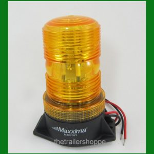 Dome Beacon Amber Surface Mount 5""