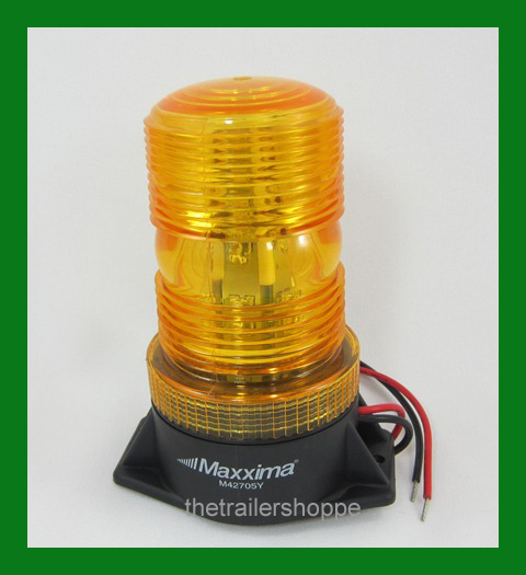 """Dome Beacon Amber Surface Mount 5"""""""