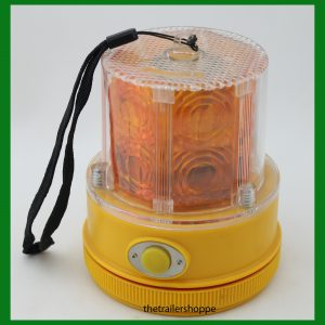 Battery Operated Amber LED Portable Magnetic Mount