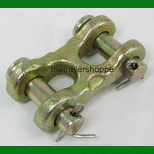 "Safety Chain Repair Link 3/8"" Twin Clevis G70 Trailer DOT Approved 6600 WLL"