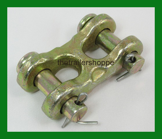 """Safety Chain Repair Link 3/8"""" Twin Clevis G70 Trailer DOT Approved 6600 WLL"""