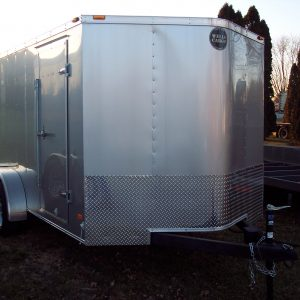 Used 2015 Wells Cargo 7 X 16 Enclosed Trailer