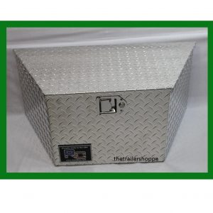 Diamond Plate Aluminum Tongue Tool Box 14X14X30