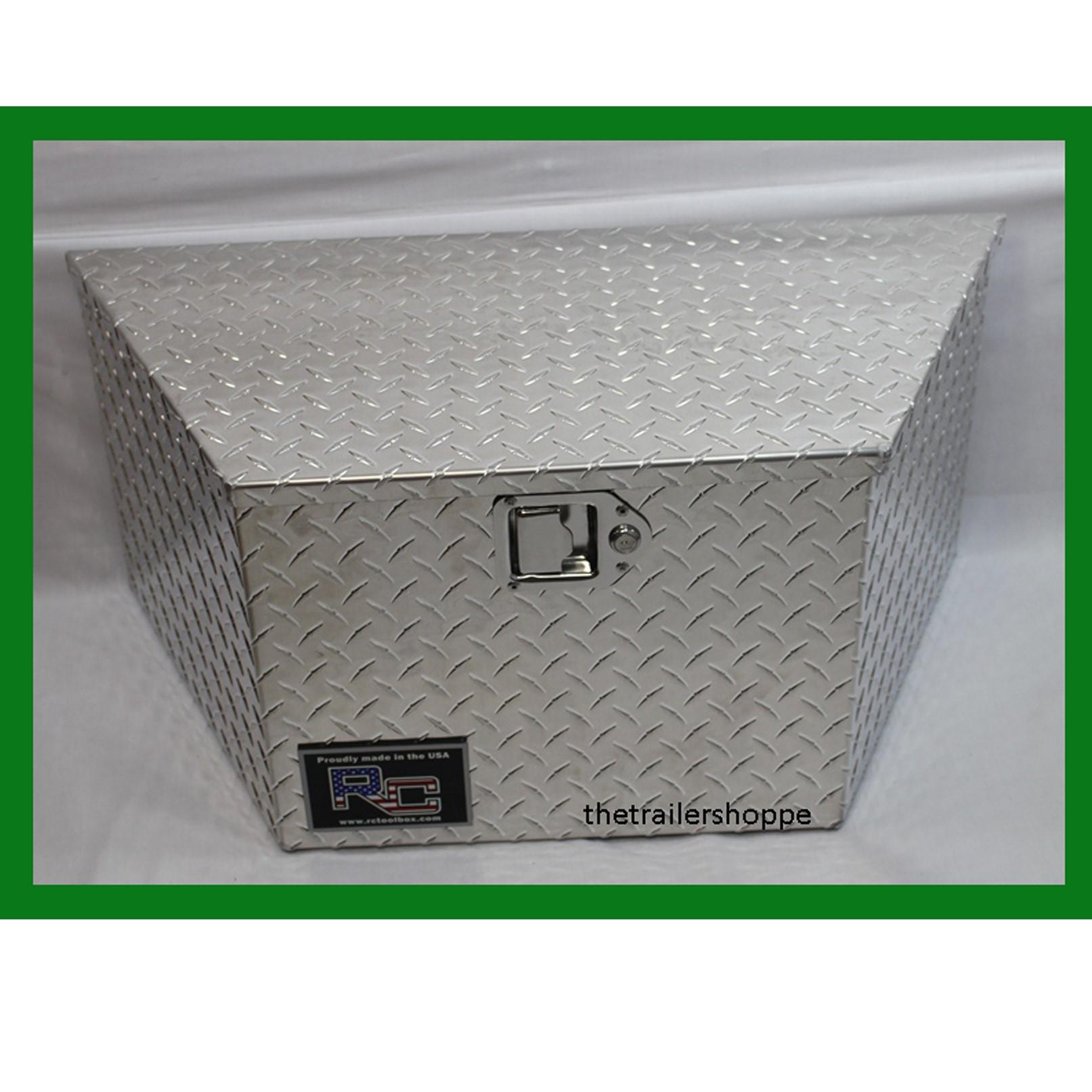 Diamond Plate Aluminum Tongue Tool Box 14x14x30 The