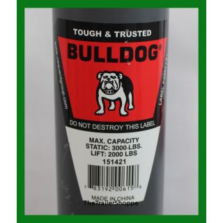 "BullDog Jack 2,000 Lbs. 15"" Travel Topwind Snap Ring"