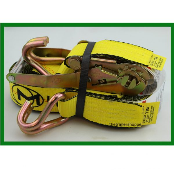 """Ratchet Strap with Wire Hook 2"""" x 30'"""