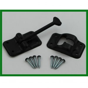 "Plastic Door Hold Back Latch Kit  3-1/2"" Long"