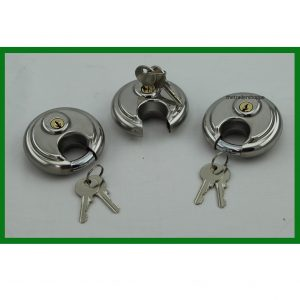 Stainless Steel Padlock -Set of 3
