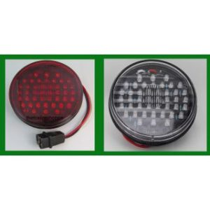 "Red 44 LEDs Stop, Tail, Turn Light 4"" Round"