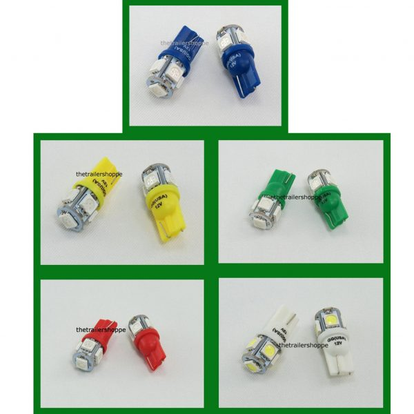 Tower Replacement 5 LED Light Bulbs #194 & 168
