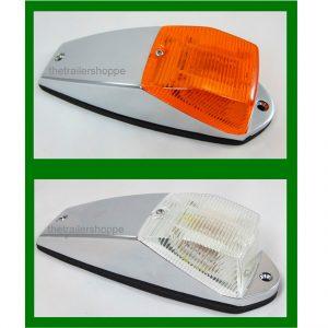 Chrome Cab Marker Light Amber 15 LED