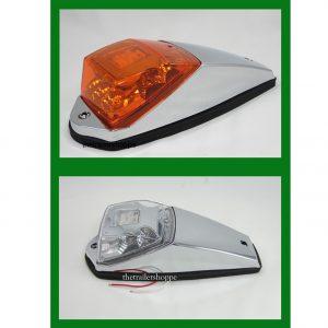 Chrome Cab Marker Light Amber 11 LED