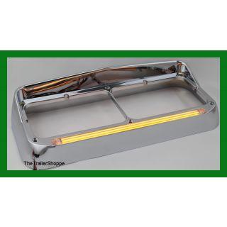 Dual Headlight Bezel With GLO LED Light Bar