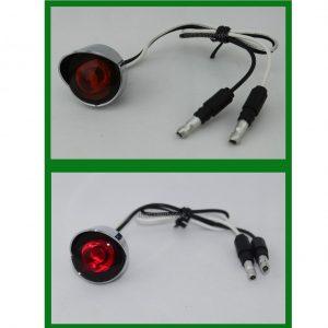 """3 LED Light with Chrome Bezel 1"""" Round"""